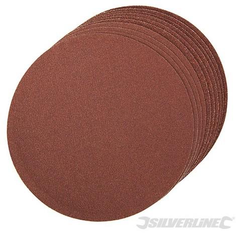 Discos de lija autoadhesivos 150 mm 10 piezas-Grano 60