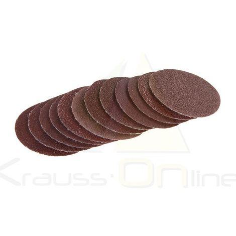 Discos de lija autoadhesivos 50 mm, 60 pzas (Silverline-446818)
