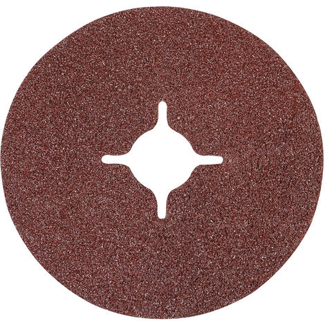 Discos de lija de fibra 115 x 2223 mm 10 piezas-Grano 24 115 mm