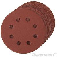 Discos de lija perforados autoadherentes 115 mm 10 piezas-Grano 40 115 mm