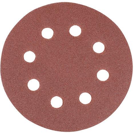 Discos de lija perforados autoadherentes 115 mm, 10 pzas Grano 120, 115 mm - NEOFERR..