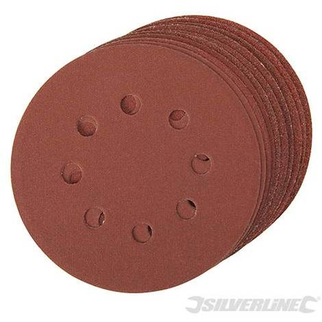 Discos de lija perforados autoadherentes 125 mm, 10 pzas