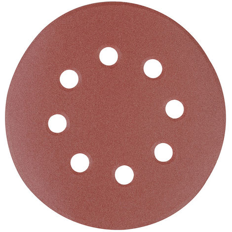 Discos de lija perforados autoadherentes 125 mm, 10 pzas Grano 40, 125 mm