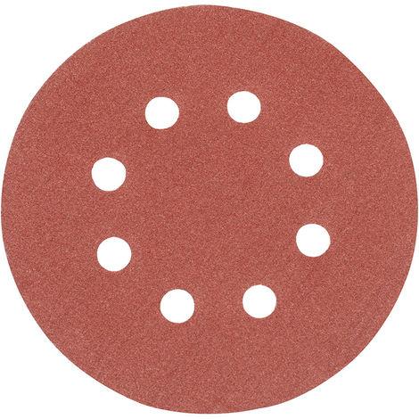 Discos de lija perforados autoadherentes 125 mm, 10 pzas Grano 120, 125 mm - NEOFERR