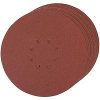Discos de lija perforados autoadherentes 225 mm 10 piezas-Grano 60 225 mm