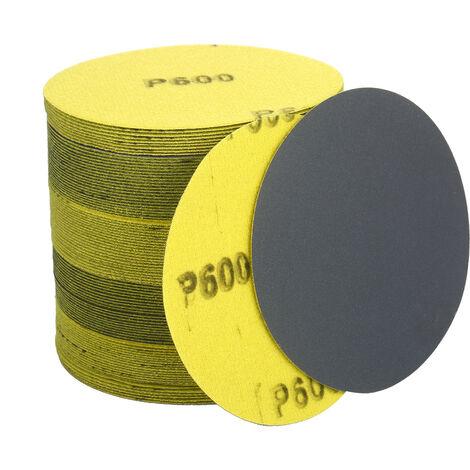 Discos de lijado surtidos de 4.5 pulgadas, grano 60/120/320/600/1000, paquete de 100, disco de lijadora de gancho y bucle, papel de lija de carburo de silicio