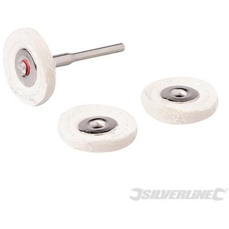 Discos de pulido para herramienta rotativa. 4 pzas (Ø25 mm)