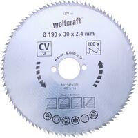 Discos de sierra circular cortes finos Wolfcraft 140 x 12,75 mm 100 dientes