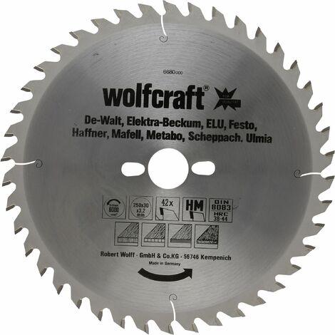 Discos de sierra circular cortes finos y amplios Wolfcraft 300 x 30 mm 48 dientes