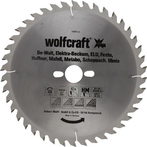 Discos de sierra circular cortes finos y amplios Wolfcraft 315 x 30 mm 48 dientes
