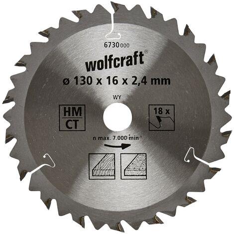 """main image of """"Discos de sierra circular cortes rápidos y finos Wolfcraft 130 x 16 mm 18 dientes"""""""