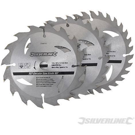 Discos de TCT para sierra circular 16, 24, 30 dientes, 3 pzas