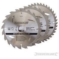 Discos de TCT para sierra circular 20. 24. 40 dientes. 3 pzas (190 x 30 - anillos de 25 y 20 mm)