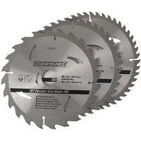 Discos de TCT para sierra circular 24, 40, 48 dientes, 3 pzas 200 x 30 - anillos de 25, 18 y 16 mm