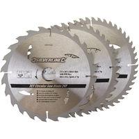 Discos de TCT para sierra circular 24, 40, 48 dientes, 3 pzas 210 x 30 - anillos de 25 y 16 mm