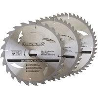 Discos de TCT para sierra circular 24, 40, 48 dientes, 3 pzas 230 x 30 - anillos de 25, 20 y 16 mm