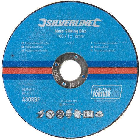 Discos para corte de metal, 10 pzas 100 x 1 x 16 mm - NEOFERR