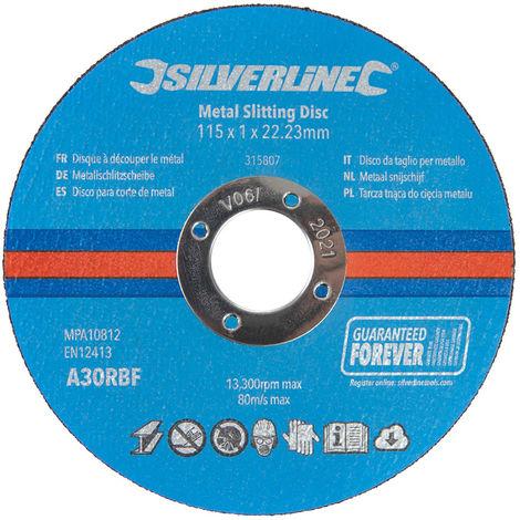 Discos para corte de metal, 10 pzas 115 x 1 x 22,23 mm - NEOFERR