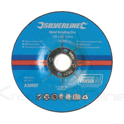 Discos para desbaste de metal, 10 pzas (Silverline-699791)