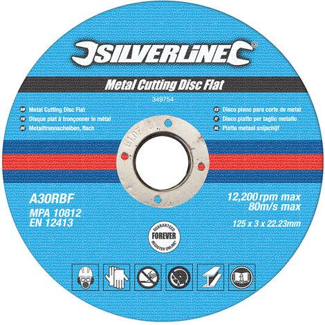 Discos planos para corte de metal, 10 pzas 125 x 3 x 22,23 mm - NEOFERR