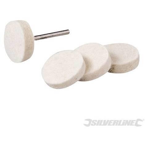 Discos pulidores de fieltro para herramienta rotativa, 5 pzas