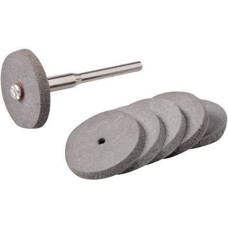 Discos pulidores de goma para herramienta rotativa, 7 pzas Ø22 mm - NEOFERR