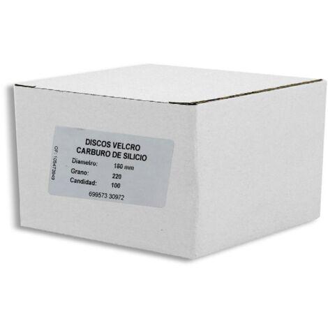 DISCOS VELCRO SILICIO P220 180mm 50 Uds