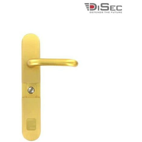 DISEC magnetic barrel cylinder cover anti-vandal with handle - gold plated MGB54FF9