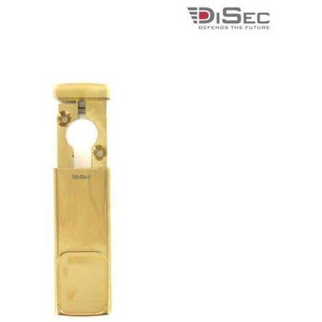 DISEC magnetic protection for European cylinder - shiny brass MG030FOL