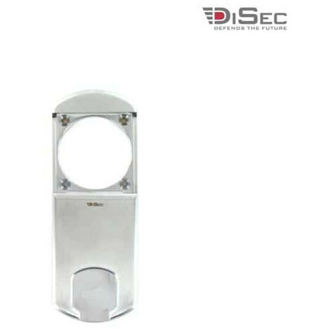 DISEC magnetic protection for round cylinder - diameter 50mm max - satin chrome MG351MINIFOT