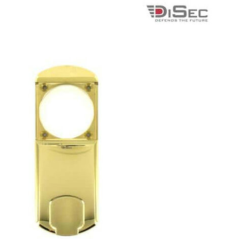 DISEC magnetic protection for round cylinder - diameter 50mm max. - shiny brass MG351MINIFOL