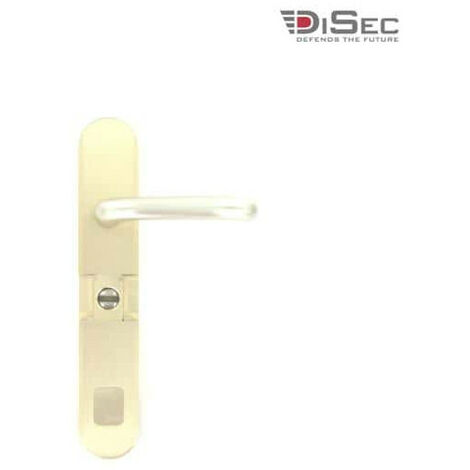 DISEC vandal resistant magnetic barrel cylinder cover with handle - champagne MGB54FFA