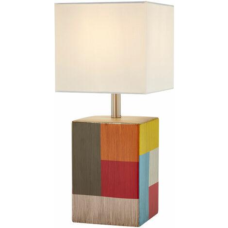 Diseño de escritura lámpara de mesita de noche salón comedor cerámica textil lámpara colorida Nino luces 51270117