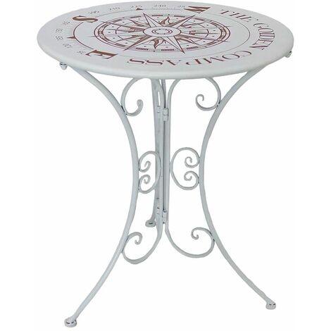 Diseño jardín bistro mesa decoración terraza lateral muebles de exterior blanco aspecto lamentable brújula imprimir Harms 950482