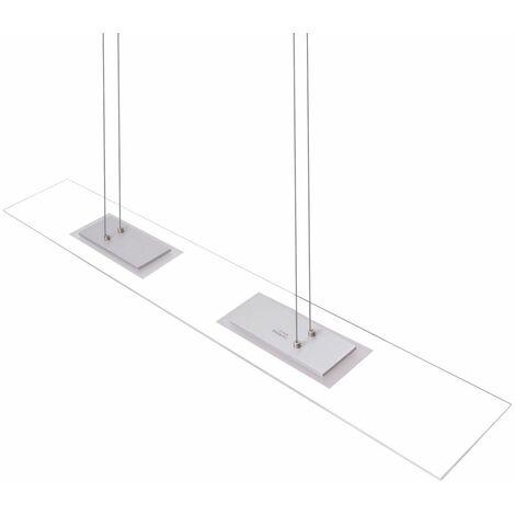 Diseño LED colgante plafón salón comedor iluminación colgante lámpara vidrio