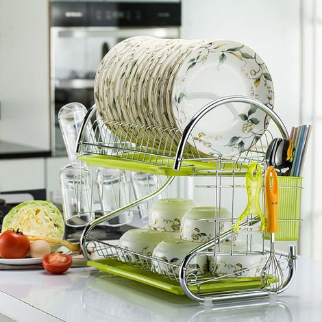 Dish Drainer With Stainless Steel Tray