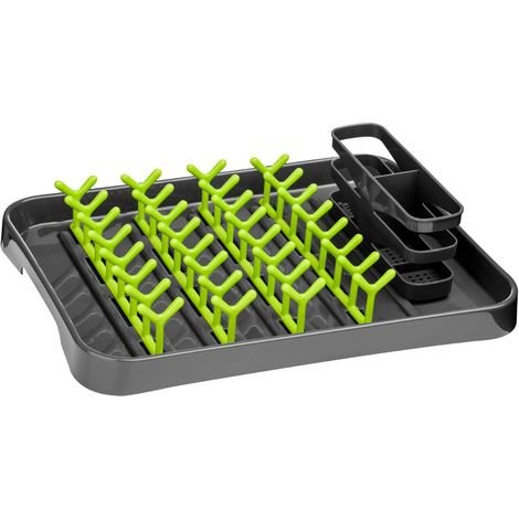Dish drainer,grey/lime green