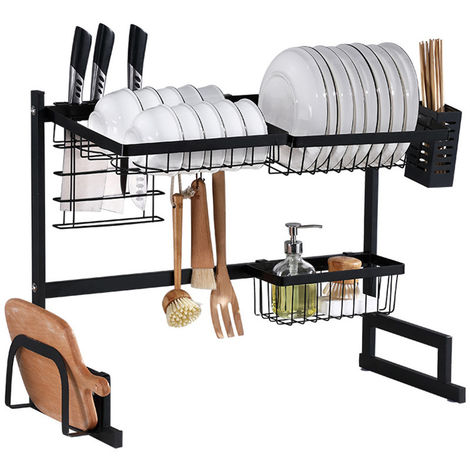Dish rack over sink Stainless steel drying rack Bowl rack Shelf