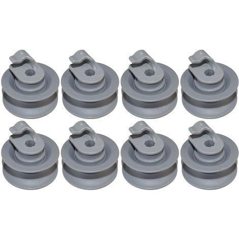 Dishwasher Upper Basket Rack Support Wheel For Bosch Siemens Appliances x 8