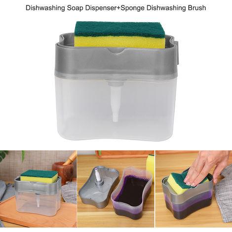 Dishwashing Soap Dispenser Sponge Dishwashing Brush Sponge Holder