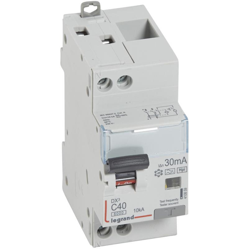 Legrand 008506/Disjoncteur diff/érentiel type B 16/A 1/ N 30/mA Type A