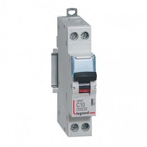 Disjoncteur 10A 1P+N courbe C 6kA bornes à vis DNX4500 LEGRAND 406773