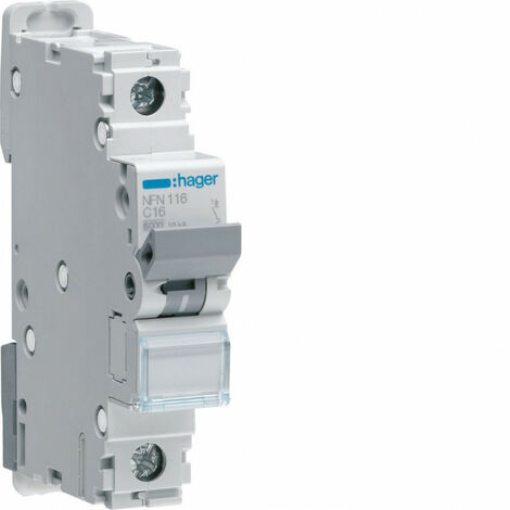 Disjoncteur 1P 6-10kA courbe C - 0,5A 1 module (NFN100)