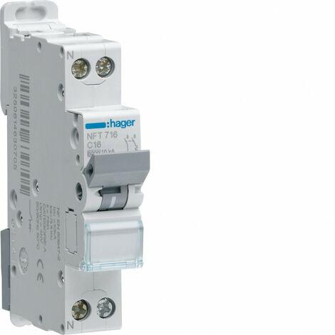 Disjoncteur 1P+N 4.5-6kA courbe B - 10A 1 module (MHT710)