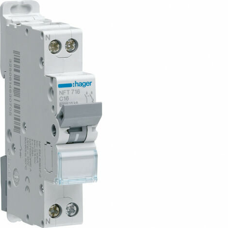 Disjoncteur 1P+N 6-10kA courbe C - 4A 1 module (NFT704)