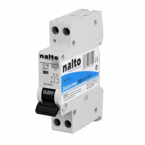 Disjoncteur 1P+N à vis 16A - 3kA type C NALTO