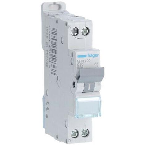 Disjoncteur 1P+N courbe C - Disjoncteur 1P+N 3kA C-1A 1 Module (MFN701)