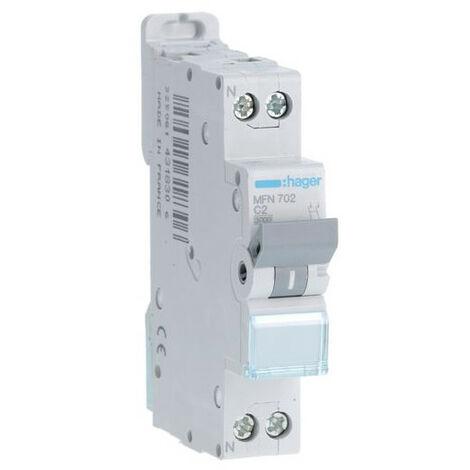 Disjoncteur 1P+N courbe C - Disjoncteur 1P+N 3kA C - 2A (MFN702)