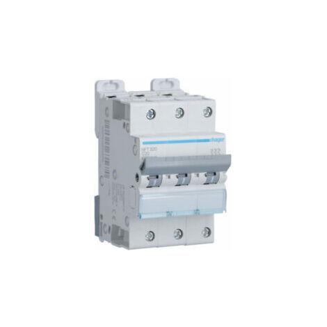 Disjoncteur 3P - Courbe C 20A - 3 modules - NFT320 - Hager