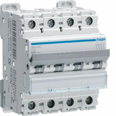 Disjoncteur 4P 6-10kA courbe D - 40A 4 modules (NGN440)